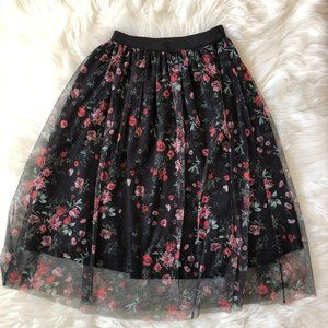 Ole by Koton Floral Print Pleated Skirt XS